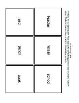 School Memory Matching Game