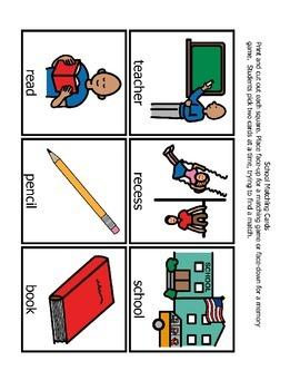 School Memory Matching Game