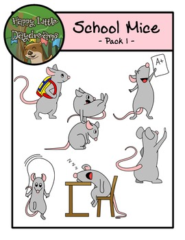 School Mice - Pack One - Clipart