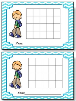 Incentive Charts with a School Kids Theme