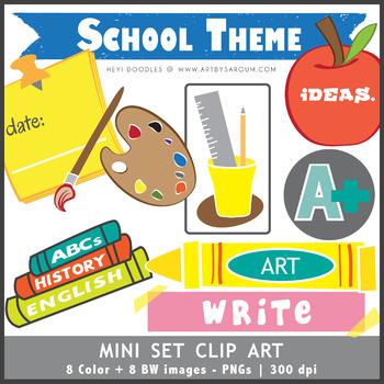 School Mini Set of Clip Art