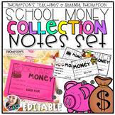 School Money Collection and Organization Notes EDITABLE