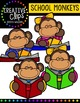 School Monkeys {Creative Clips Digital Clipart}