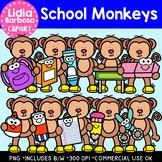 School Monkeys: Digital Clipart