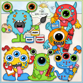 School Monsters Clip Art - Monster School Clip Art - CU Cl