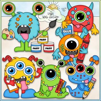 School Monsters Clip Art - Monster School Clip Art - CU Cl