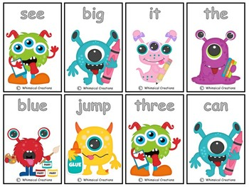 School Monsters 220 Sight Words