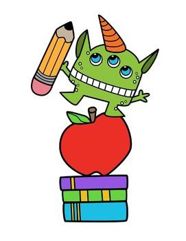 School Monsters Clipart by Splashy Pix | Teachers Pay Teachers