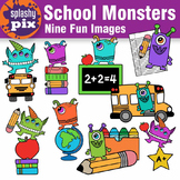 School Monsters Clipart