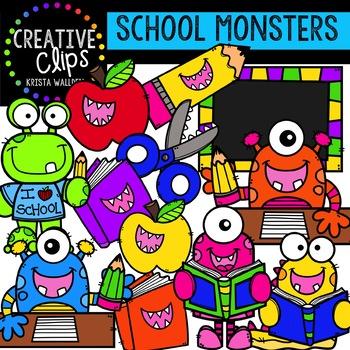 School Monsters: School Clipart {Creative Clips Clipart}