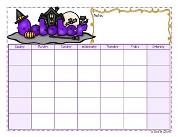 School Monthly Calendar – EDITABLE