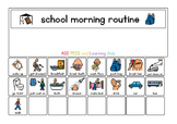 School Morning Routine Board and Cards - Boardmaker Visual Aids for Autism