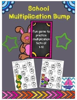 School Multiplication Bump Game