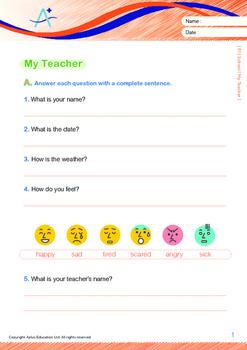 School - My Teacher - Grade 1