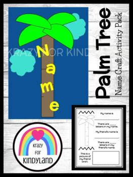 Chicka Chicka Boom Boom Book Companion Craft: Name Coconut Tree