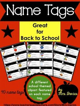 School Name Tags - Editable!