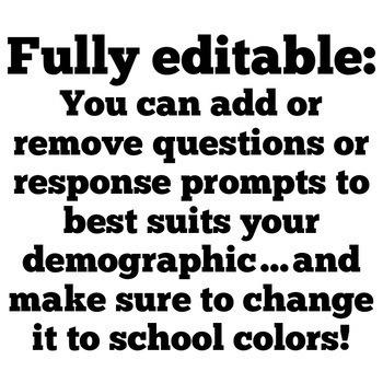 School Needs Survey: An Editable Google Activity DISTANCE LEARNING