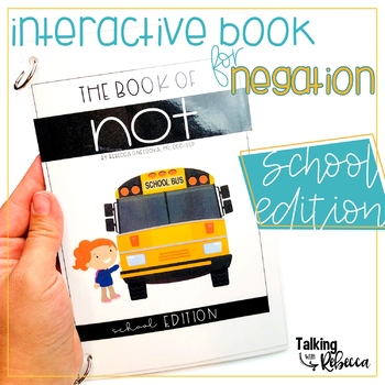 School Negation Interactive Book for Speech Therapy