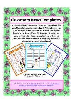 Classroom News Templates