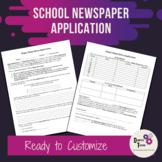 School Newspaper Application