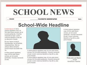 Newspaper Template Google Slides Worksheets & Teaching