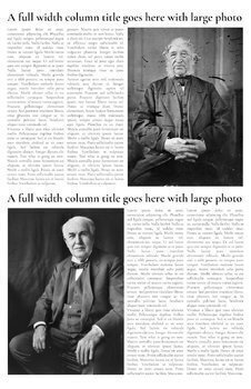 School Newspaper Template - 4 Page - Google Docs Compatible