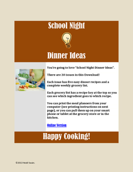 School Night Dinner Ideas
