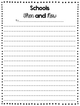 School Now and Then Research Template and Writing Task