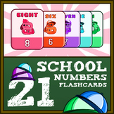 School Numbers Flash Cards Classic 1-20