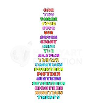 Montessori School Numbers Poster Chart 1-20