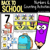 School Numbers and Counting Activities
