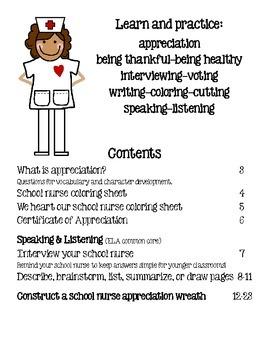 School Nurse Appreciation, Activities and Kit