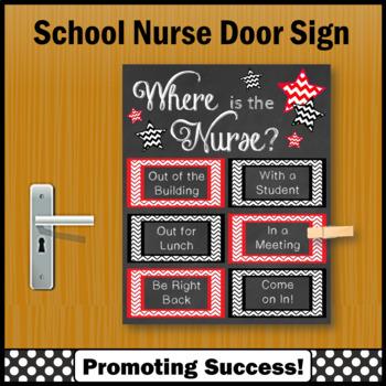 School Nurse Appreciation Gift, Where is the Nurse Sign NOT EDITABLE