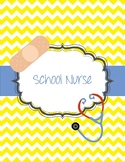 School Nurse Binder Chevron Bandaid