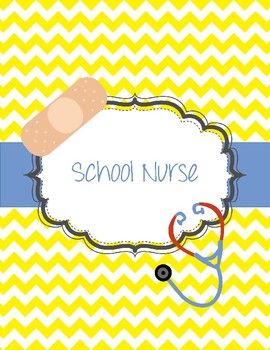 School Nurse Binder Chevron Bandaid