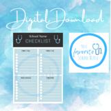 School Nurse Checklist/Daily Task List