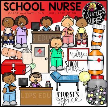 School Nurse Clip Art Set {Educlips Clipart}