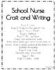Community Helpers Craft and Writing: School Nurse