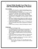 School Nurse Emergency Action Plan for Peanut Allergy
