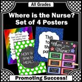 Where is the Nurse Sign, Nursing Office Decor, Motivational Signs NOT EDITABLE