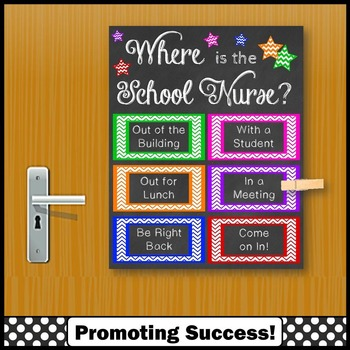 Where is the School Nurse Poster, Colorful Nursing Office Decorn
