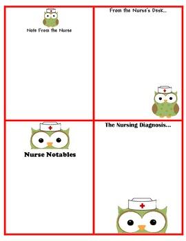 School Nurse Pass, Notes to Home, Notes for Nurse Owl Theme