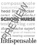 School Nurse Subway Art - B&W