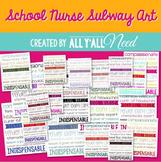 School Nurse Subway Art - Bright Colors