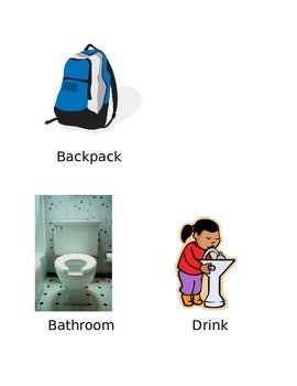 School Object Pictures with Labels