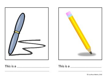 School Objects Book - Complete the Sentence