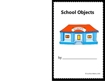 School Objects Book - Students Cut, Paste, Write