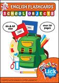School Objects - English Flashcards