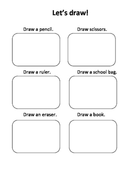 School Objects Grade 1