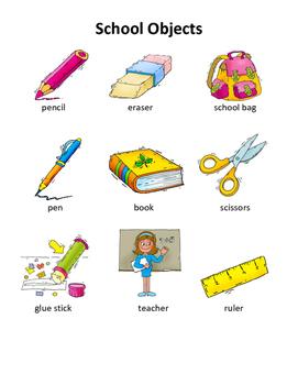 School Objects Grade 1